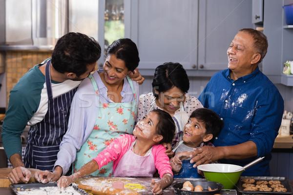 Happy multi-generation family enjoying in kitchen Stock photo © wavebreak_media