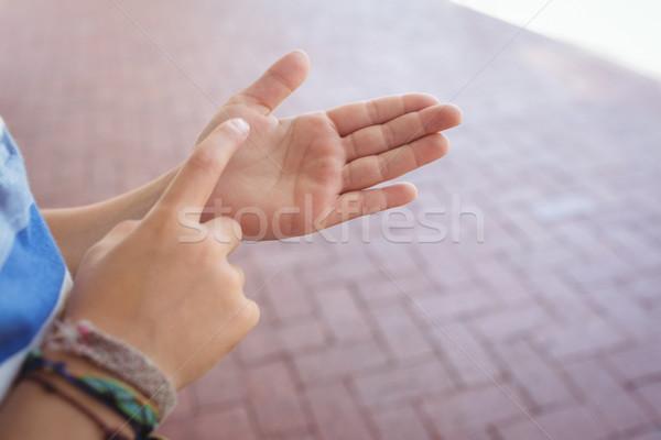 рук студент коридор стены технологий Сток-фото © wavebreak_media