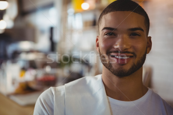 Close-up of portrait of waiter in cafe Stock photo © wavebreak_media