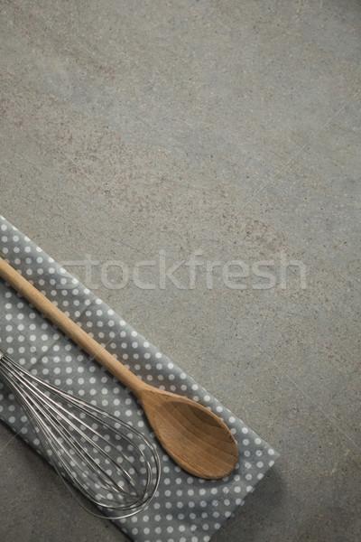 Tel peçete tablo ahşap Stok fotoğraf © wavebreak_media