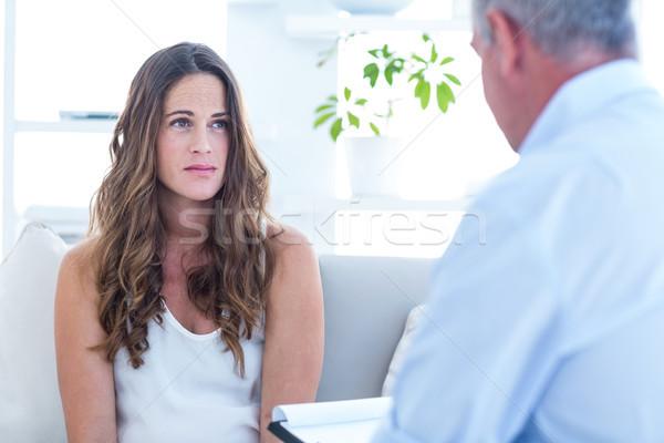 Psychiatrist advising female patient  Stock photo © wavebreak_media