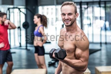 Człowiek kobieta crossfit siłowni Zdjęcia stock © wavebreak_media