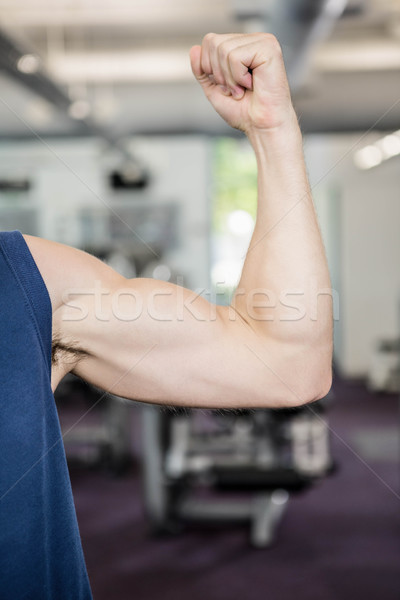 Homme biceps gymnase main Photo stock © wavebreak_media