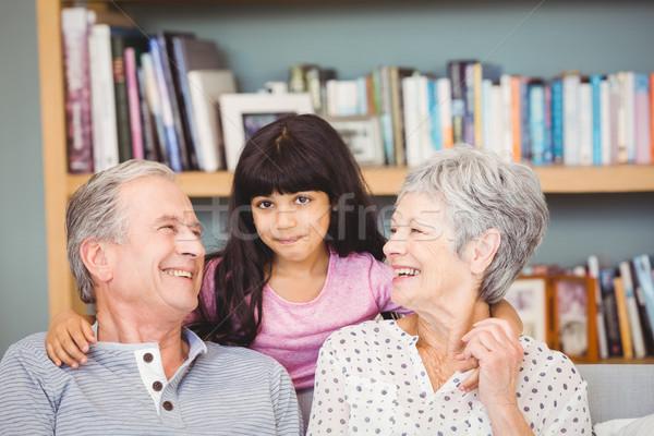 幸せ 孫娘 祖父母 ホーム 女性 家族 ストックフォト © wavebreak_media