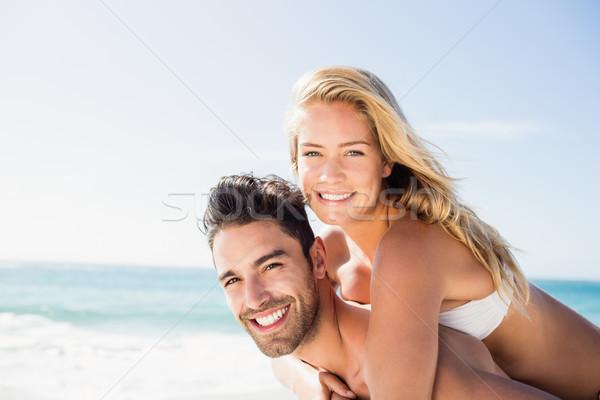 дружок назад подруга пляж счастливым Сток-фото © wavebreak_media