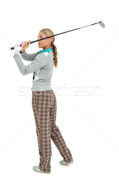 Golfozó elvesz lövés fehér nő golf Stock fotó © wavebreak_media
