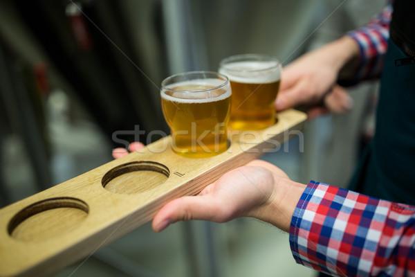 Bira tepsi bira fabrikası fabrika Stok fotoğraf © wavebreak_media