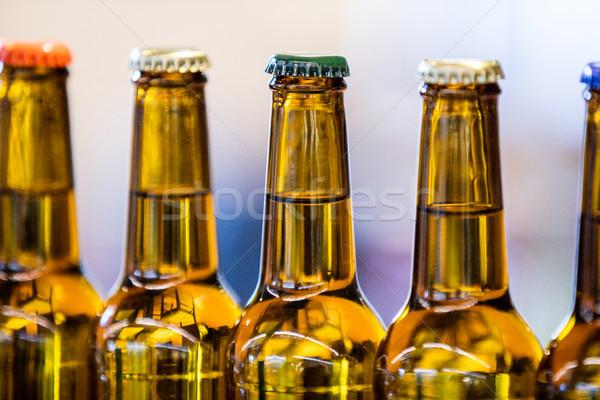 Close-up of sealed beer bottles Stock photo © wavebreak_media