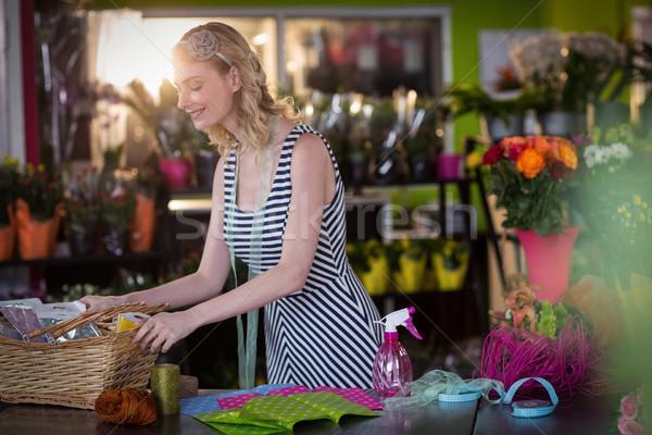 Feminino florista negócio mulher Foto stock © wavebreak_media