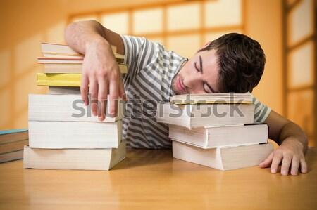 Estudiante biblioteca blanco hombre Foto stock © wavebreak_media