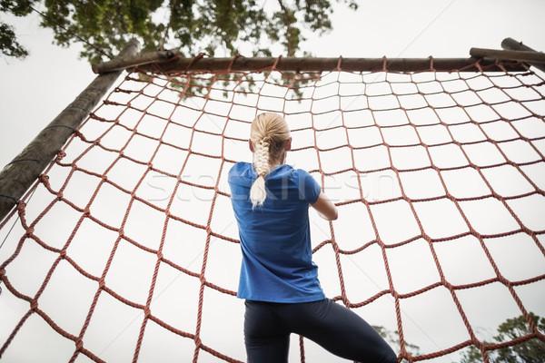 женщину скалолазания чистой дерево фитнес Сток-фото © wavebreak_media
