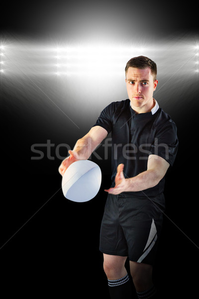 Imagem rugby jogador holofote Foto stock © wavebreak_media