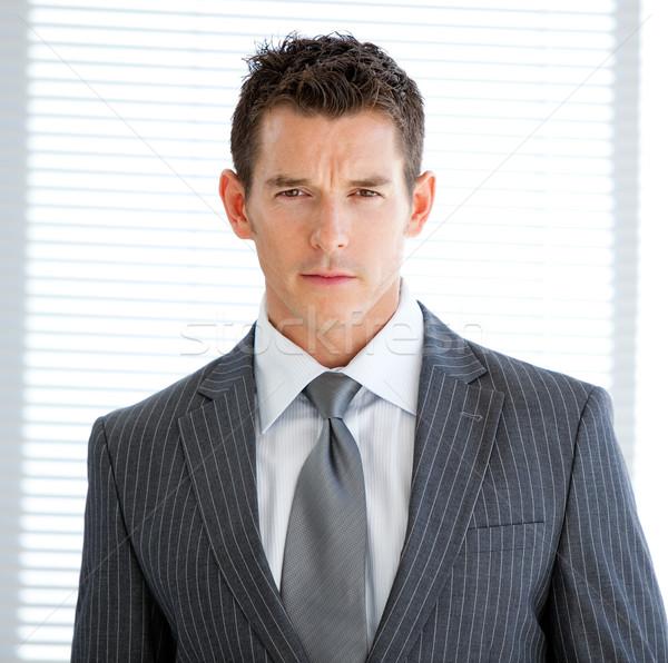Portrait charismatique affaires bureau heureux exécutif Photo stock © wavebreak_media