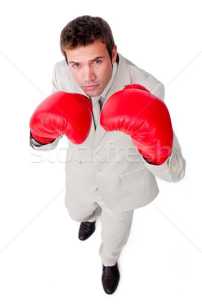 Jovem empresário fora competição branco mão Foto stock © wavebreak_media