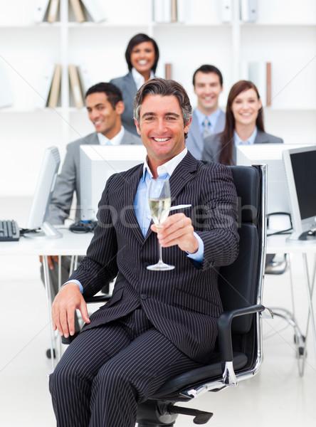 成功した マネージャ チーム 飲料 シャンパン オフィス ストックフォト © wavebreak_media