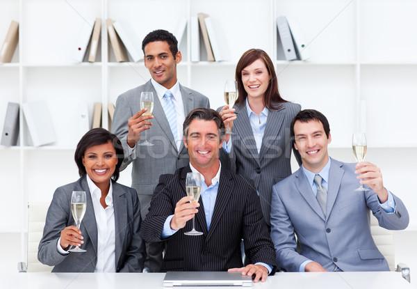 成功した ビジネスの方々  祝う 勝利 シャンパン ビジネスマン ストックフォト © wavebreak_media