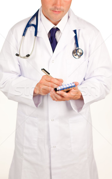 Stock photo: Doctor writting a prescription