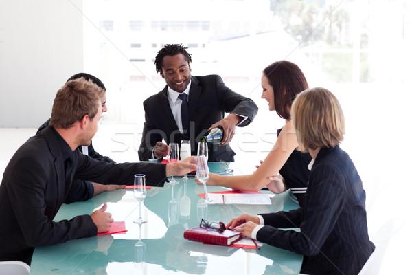 ビジネスチーム 飲料 シャンパン 会議 国際ビジネス チーム ストックフォト © wavebreak_media