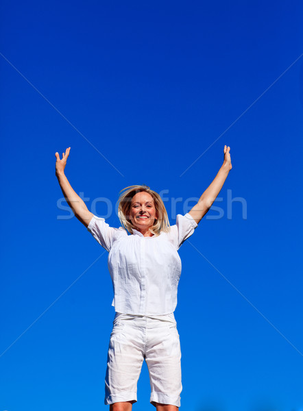 Carefree woman enjoying life Stock photo © wavebreak_media