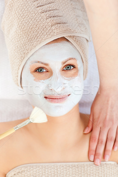 Captivating woman receiving a beauty treatment in a spa center Stock photo © wavebreak_media