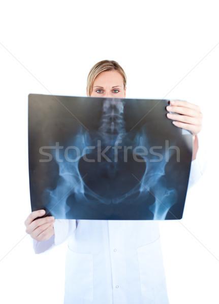 Feminino médico manter raio x branco Foto stock © wavebreak_media