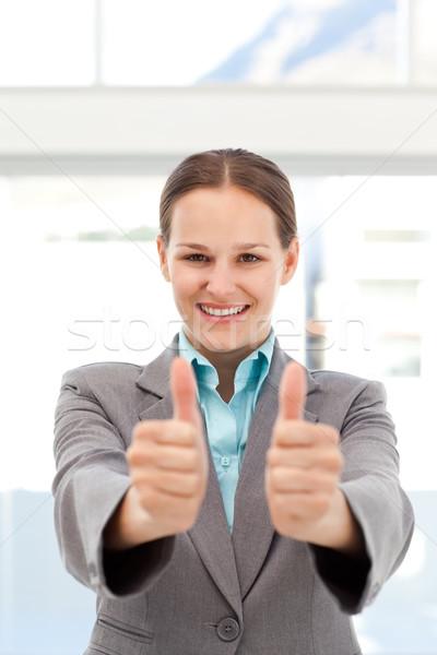 Orgulloso mujer de negocios trabajo oficina edificio Foto stock © wavebreak_media