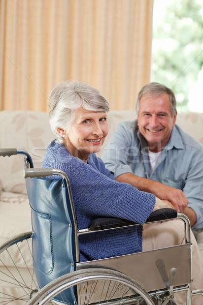 Volwassen paar naar camera medische gezondheid Stockfoto © wavebreak_media