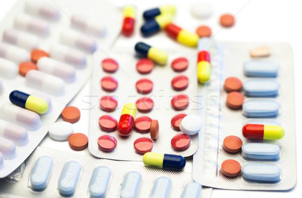 Color pastillas ampolla tiras blanco hospital Foto stock © wavebreak_media