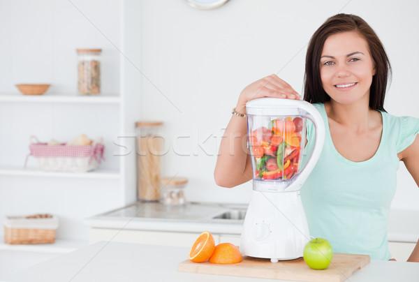 女性 ポーズ ブレンダー 少女 女性 幸せ ストックフォト © wavebreak_media
