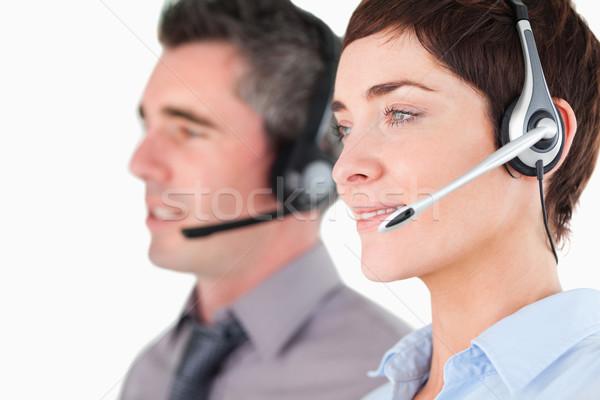 白 オフィス 作業 カップル ビジネスマン ストックフォト © wavebreak_media