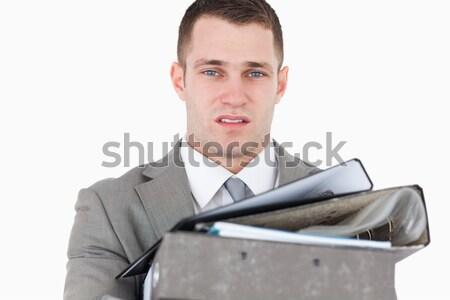 Sobrecarregado jovem empresário branco negócio escritório Foto stock © wavebreak_media