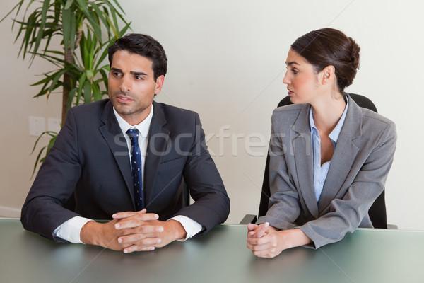Gericht zakenlieden onderhandelen vergadering zakenman Stockfoto © wavebreak_media