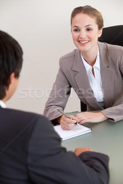 портрет улыбаясь менеджера мужчины заявитель служба Сток-фото © wavebreak_media