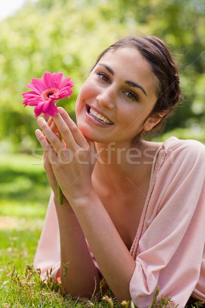 Sorrindo queixo brasão Foto stock © wavebreak_media