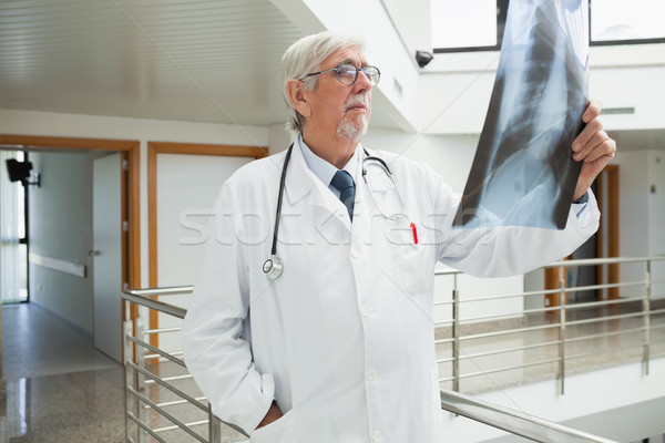 Stok fotoğraf: Doktor · ayakta · koridor · bakıyor · xray · hastane