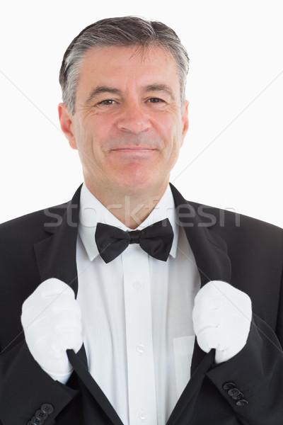 Sonriendo camarero chaqueta cámara traje camisa Foto stock © wavebreak_media