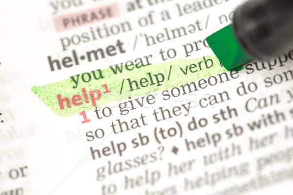 Help definizione verde dizionario informazioni studiare Foto d'archivio © wavebreak_media