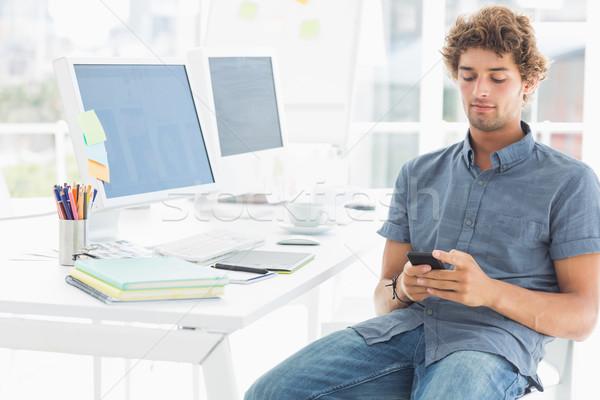 Man heldere kantoor toevallig jonge man Stockfoto © wavebreak_media