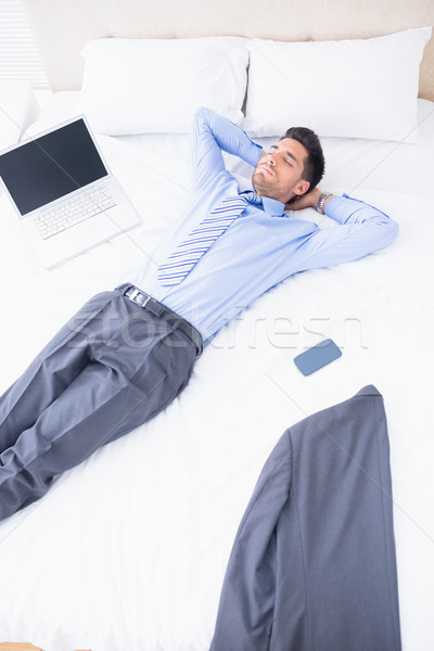 Napping businessman lying on his bed  Stock photo © wavebreak_media