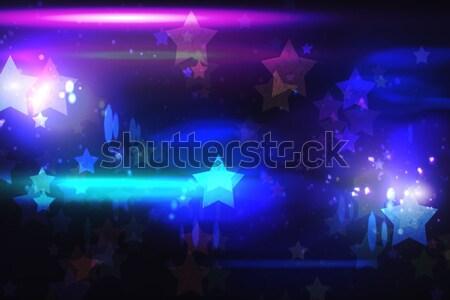 Serin gece hayatı dizayn Yıldız ışıklar Stok fotoğraf © wavebreak_media