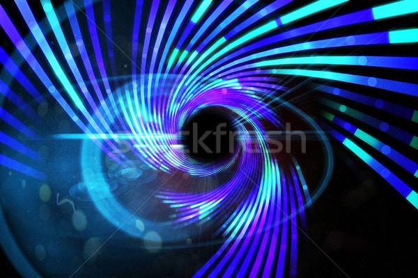 Stock fotó: Digitálisan · generált · lézer · kék · buli