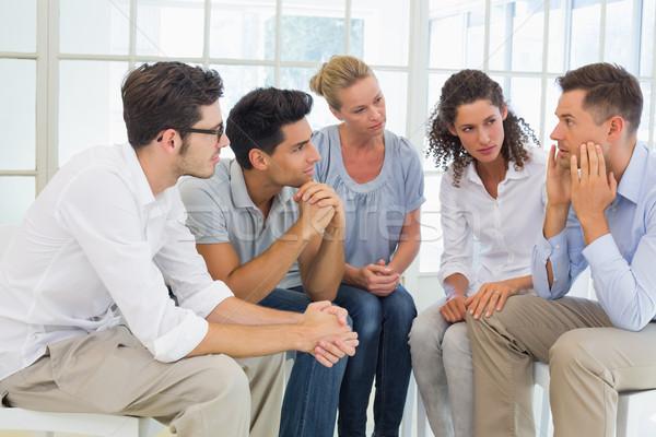 Grupo terapia sessão círculo brilhante quarto Foto stock © wavebreak_media
