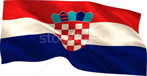 Cyfrowo wygenerowany Chorwacja banderą biały Zdjęcia stock © wavebreak_media
