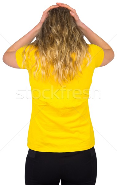 Desapontado futebol ventilador brasil tshirt branco Foto stock © wavebreak_media