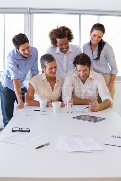 魅力的な グループ ビジネスの方々  女性 チーム ストックフォト © wavebreak_media