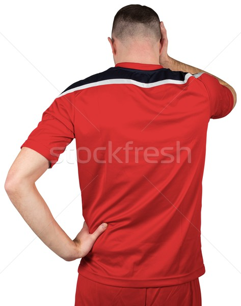 Deluso guardando verso il basso bianco calcio calcio Foto d'archivio © wavebreak_media
