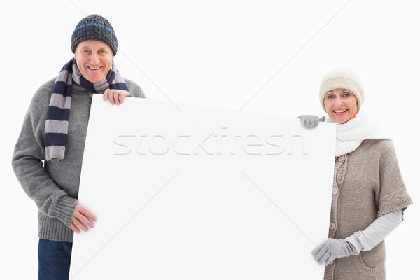 зрелый пару зима одежды карт Сток-фото © wavebreak_media