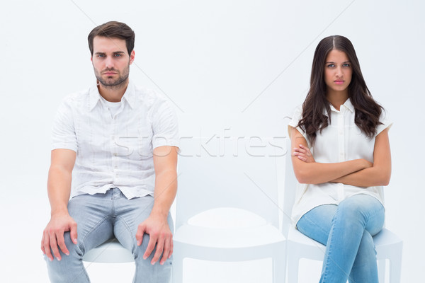 Angry couple not talking after argument Stock photo © wavebreak_media