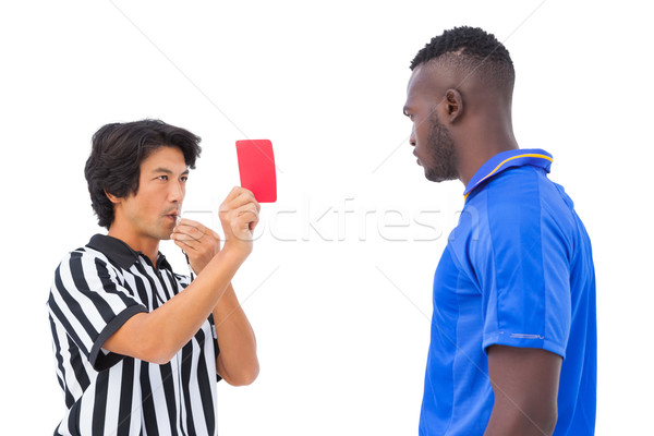 Referee sending off football player Stock photo © wavebreak_media