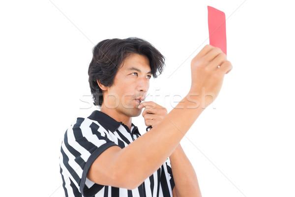 Stern referee showing red card Stock photo © wavebreak_media